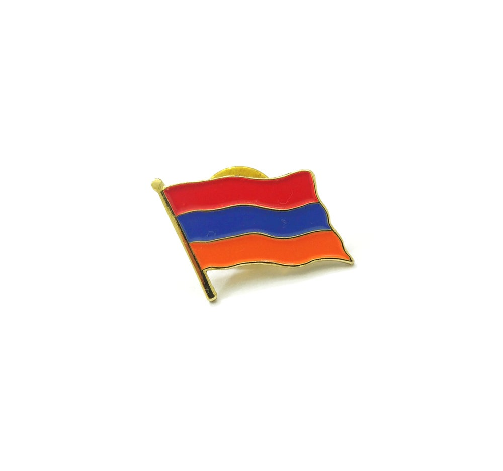 Image of Armenia flag lapel pin