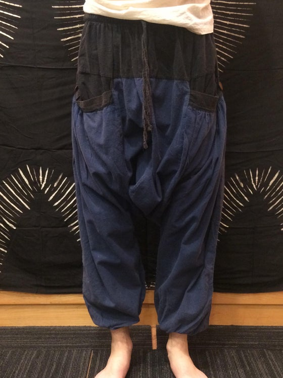 Image of 2 Tone Deep Pocket Harem Pants
