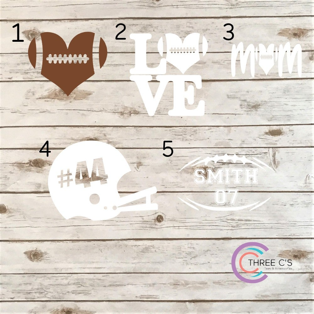 Image of Football Decals