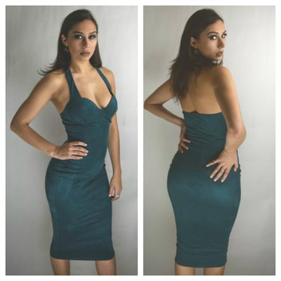 Image of Emerald Green Halter Dress