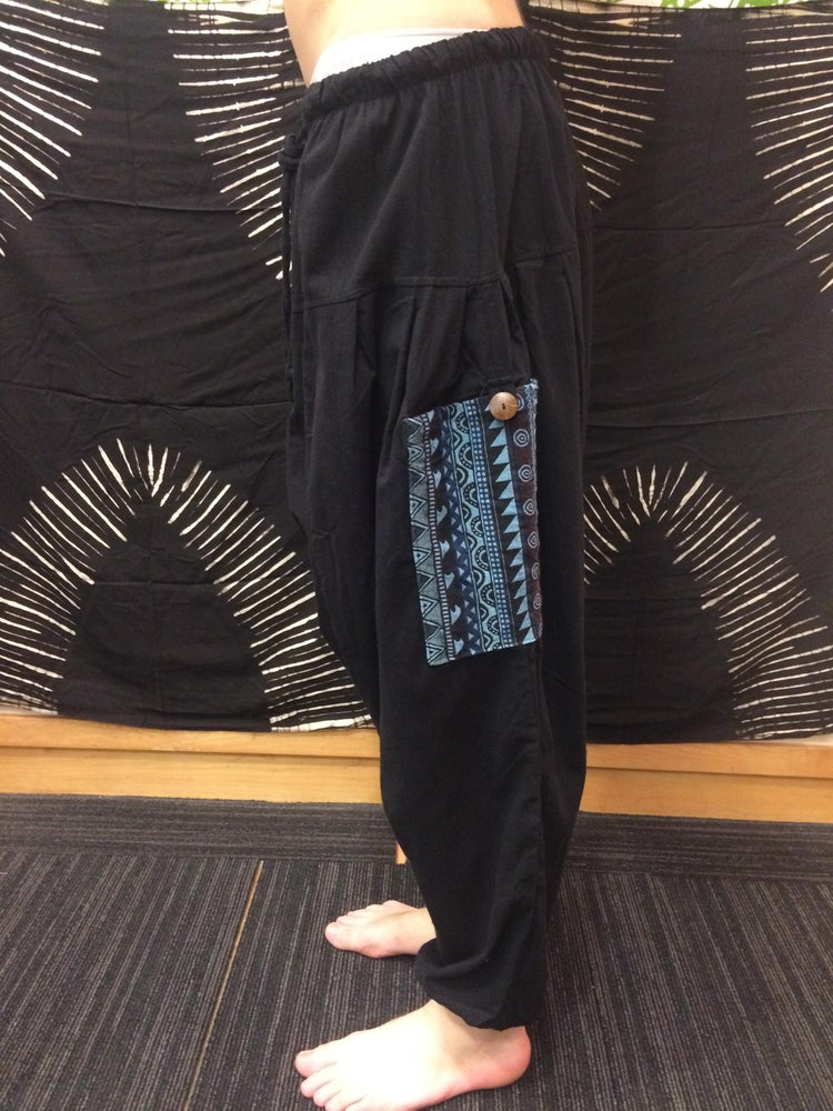 Image of Handloom Pocket Harem Pants