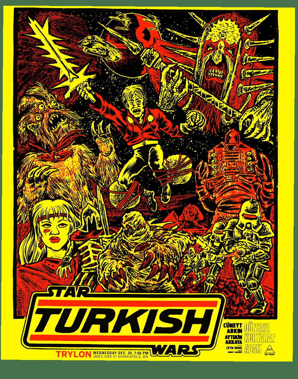 Turkish Star Wars 18X24 Screenprint