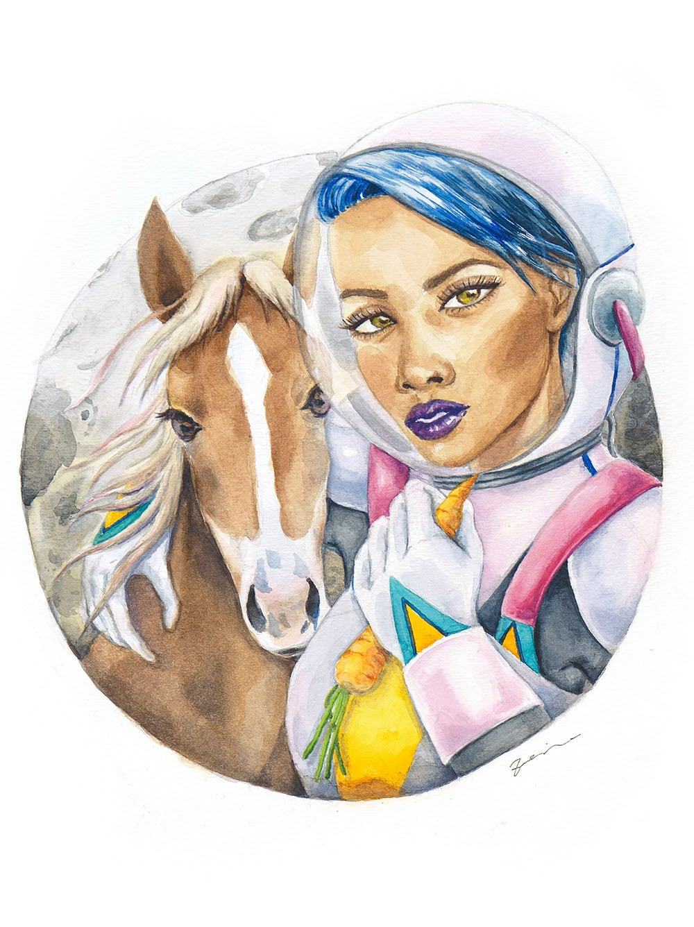 Image of A girl and her horse