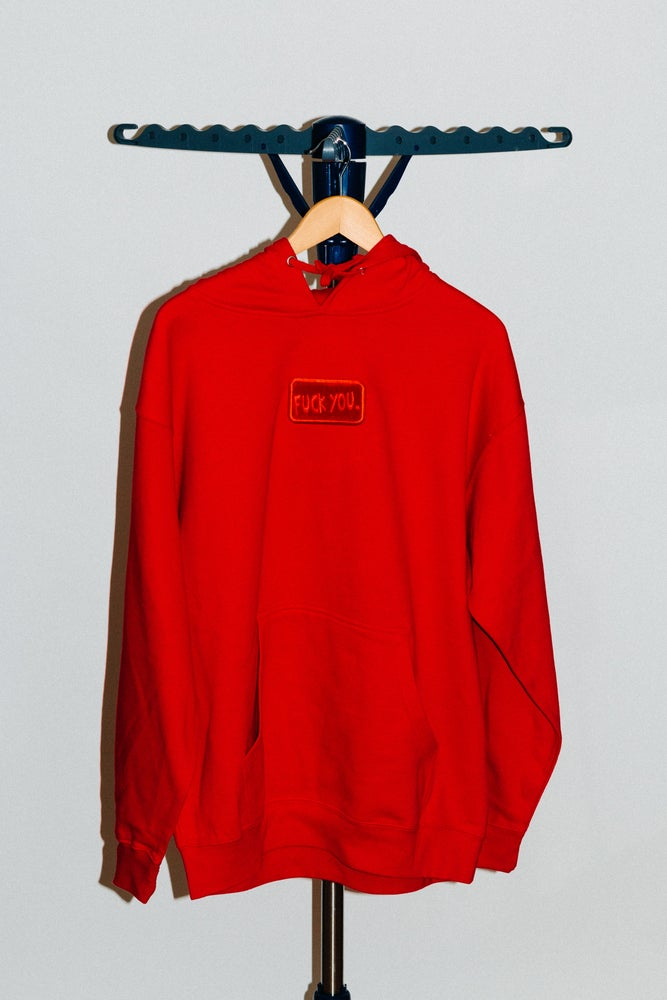 Image of Bloody Red Fuck You Hoodie