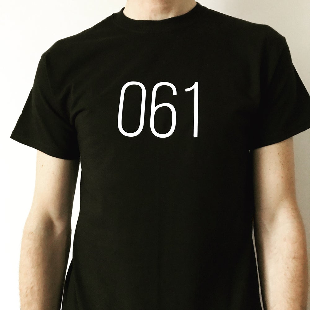 Image of 061 + 0161 MANCHESTER RETRO AREA CODE T SHIRT