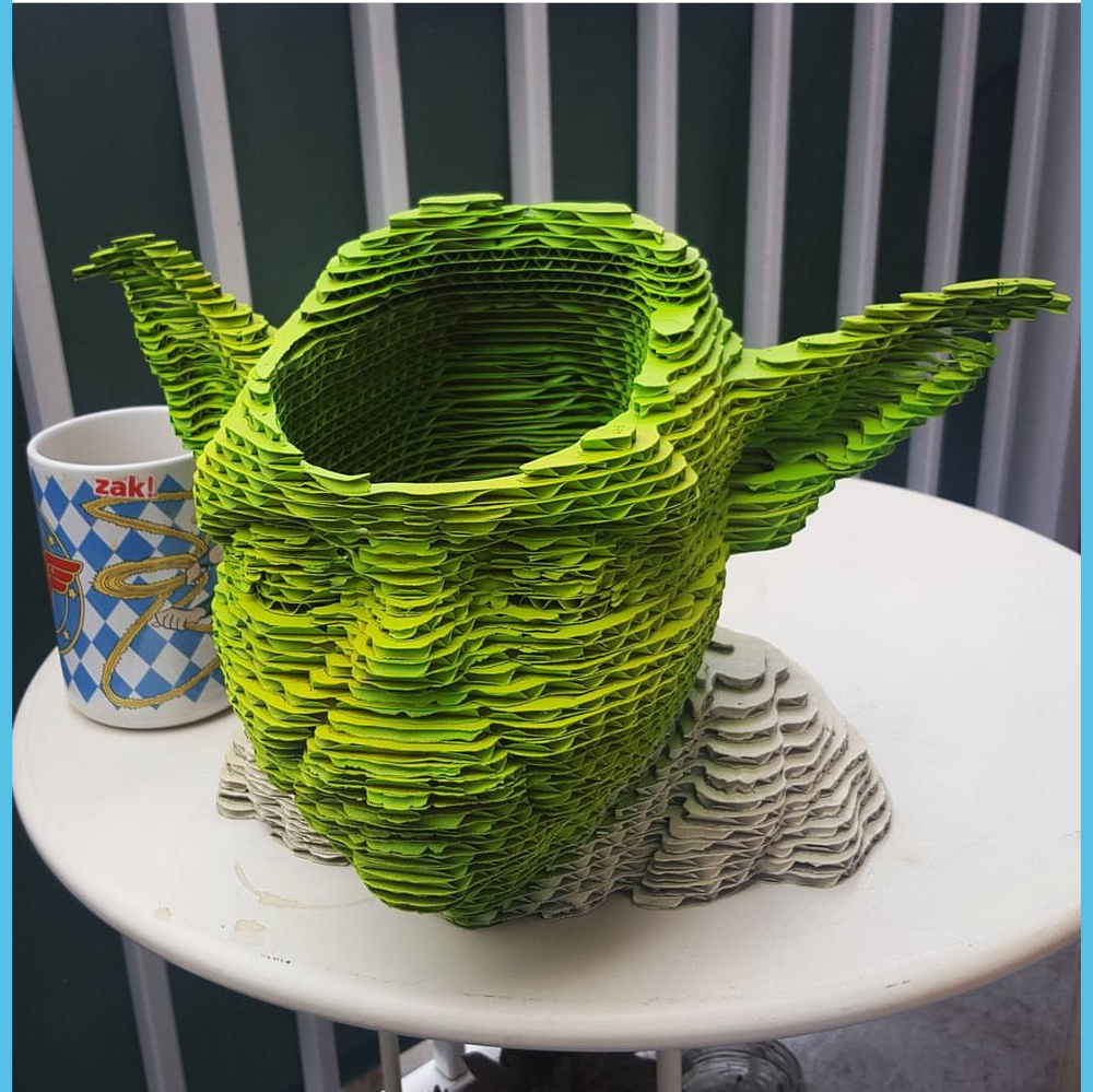 Image of Yoda laser cut planter