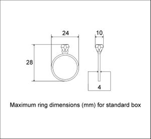 Image of Slim square engagement ring box