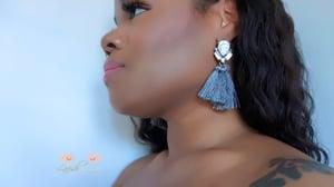 Image of Grey Tassel Earrings
