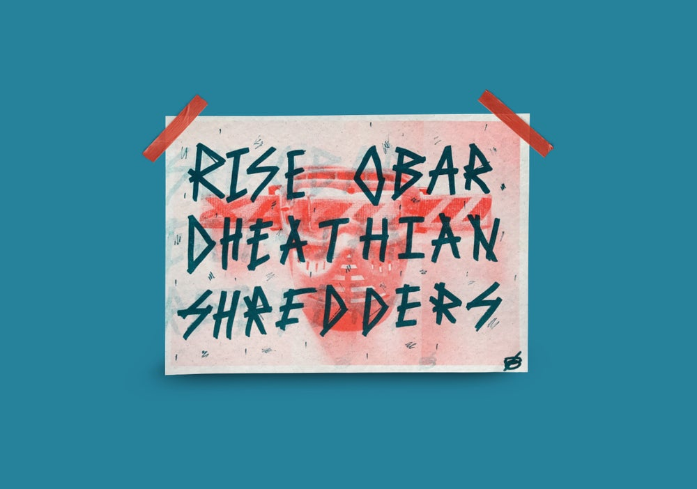 Image of North Beast X Shredder MTB Zine Rise Obar Art Print