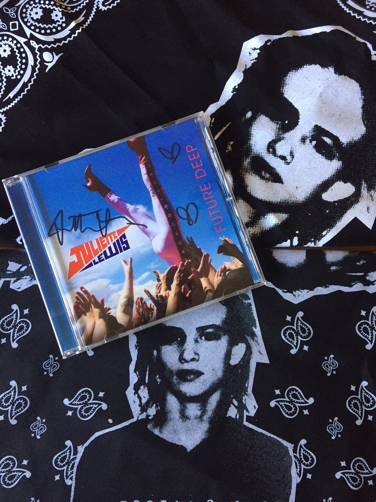 Image of *Combo* Signed Future Deep CD + Bandana Set