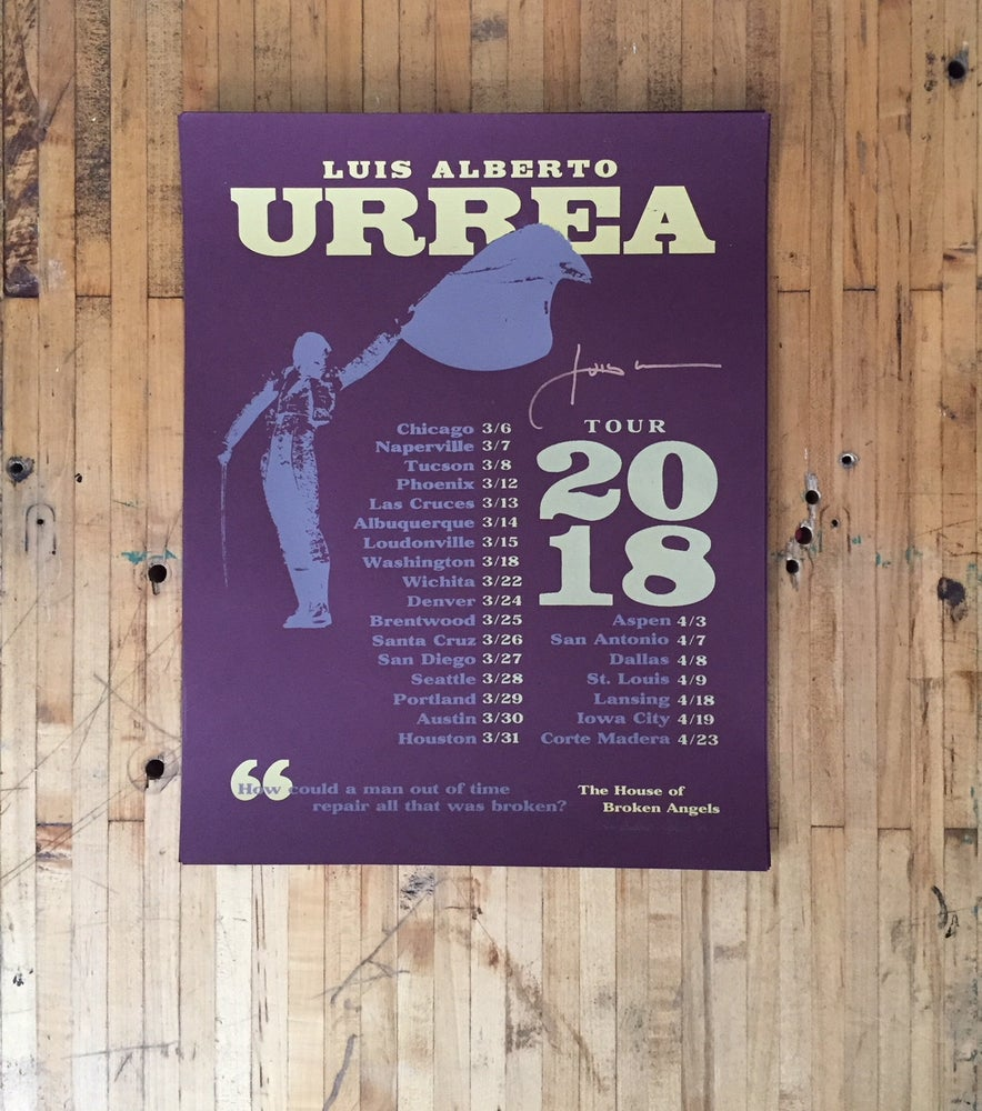 Image of Limited Edition Luis Urrea Tour Poster