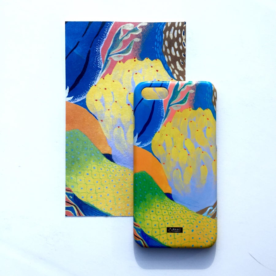 Image of CORAL REEF iPhone case by AKARI URAGAMI