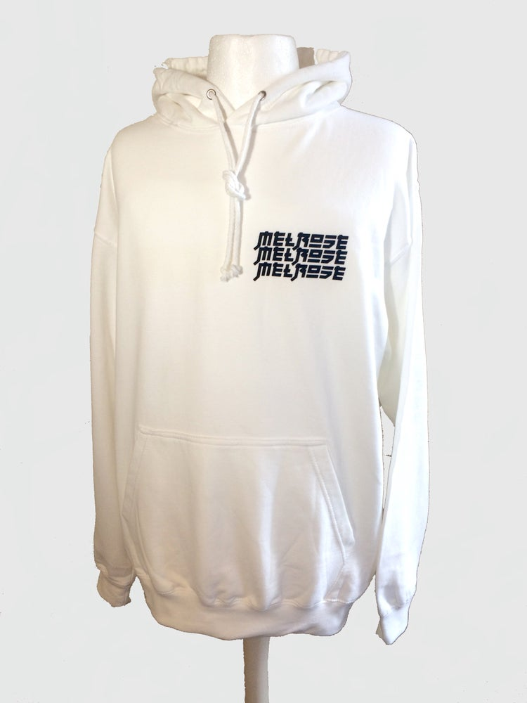 Image of Shiro Pullover Hoodie - White/Black