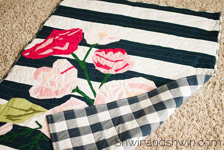 Image of Floral Quilt Applique