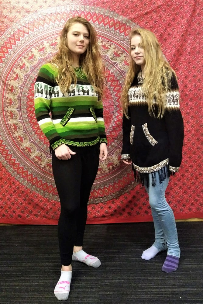 Image of Alpaca Color Fringe Sweaters