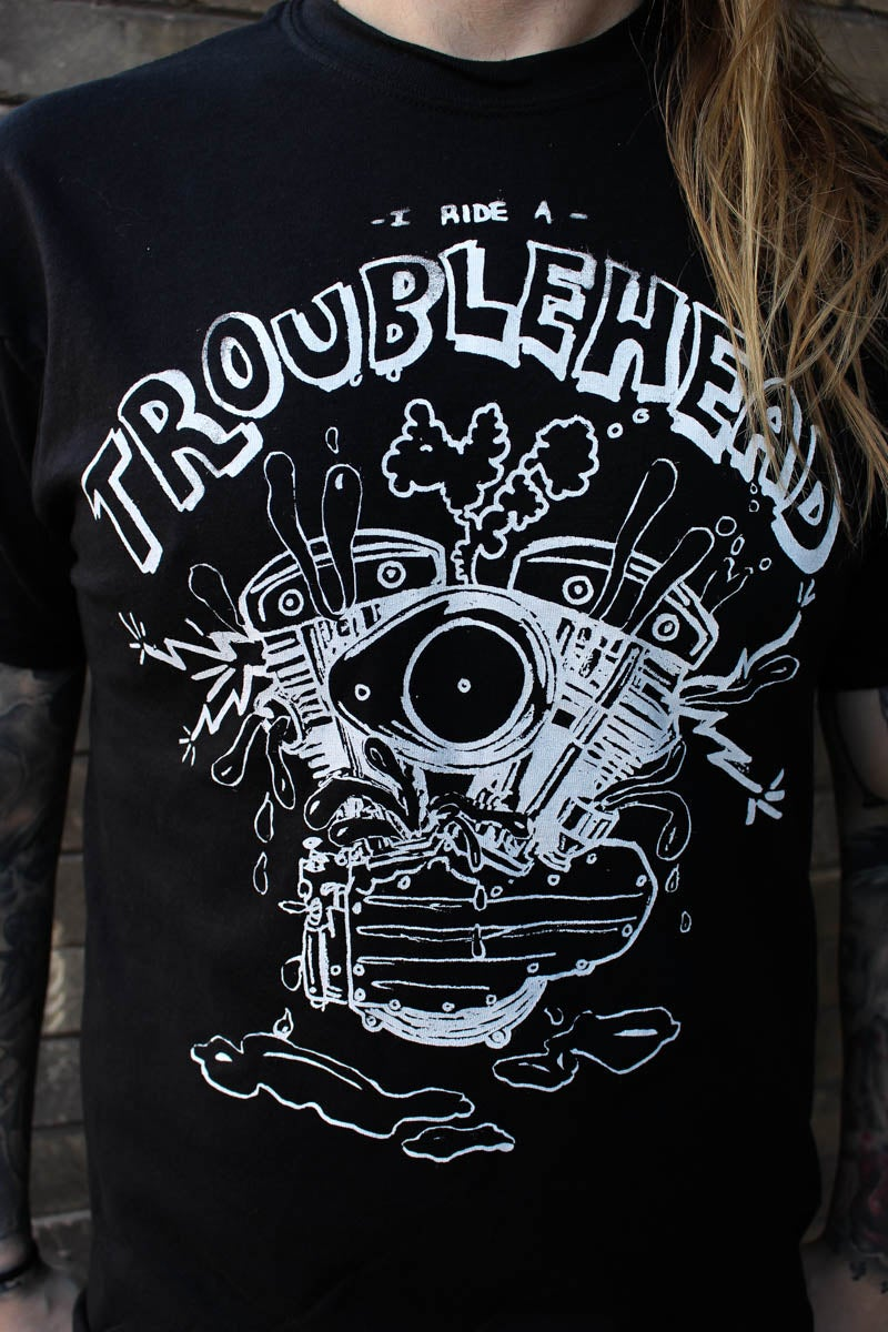 Image of Troublehead black tshirt for men