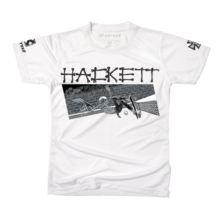 Image of DAVE HACKETT SLASH WHITE TEE