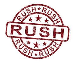 Image of Rush my order