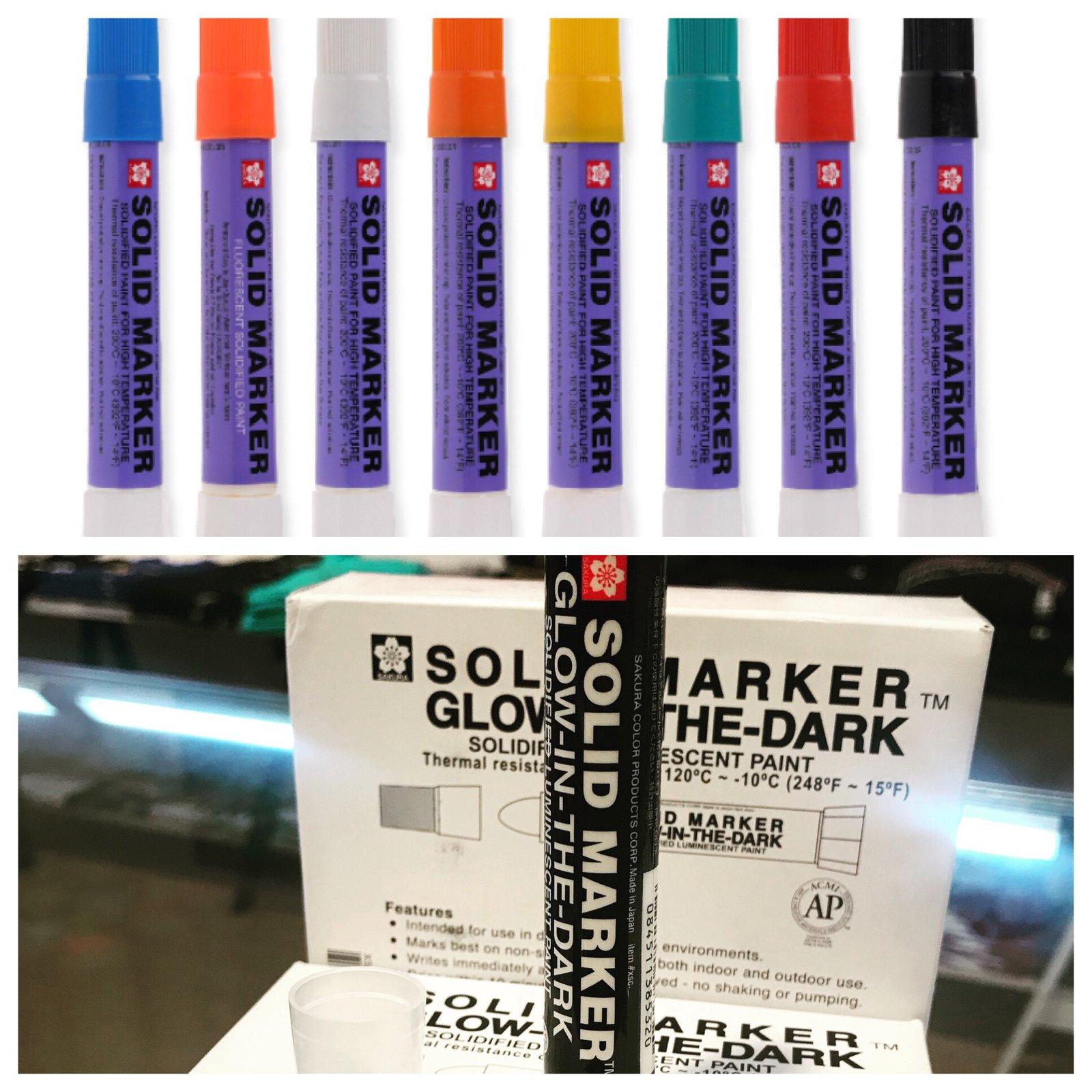 Paint Markers Sakura Solid  12 Pack  includes GLOW IN DARK