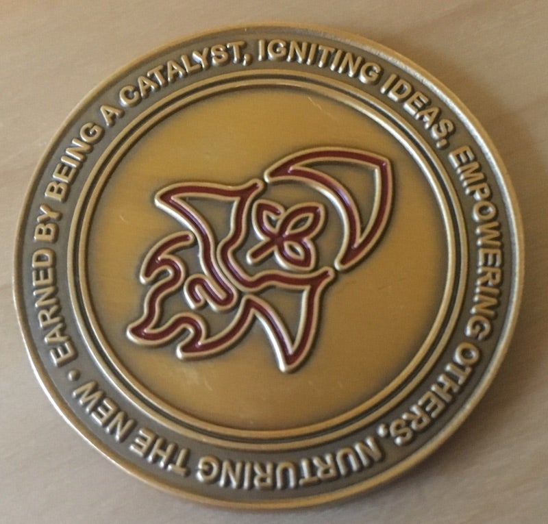 Image of Find, Nurture, Enroll, Connect: Catalyst Challenge Coin