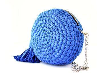 Image of Crochet circular purses with tassels