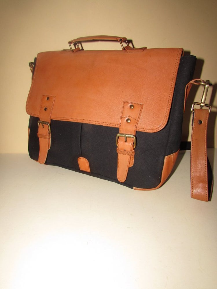 "Image of Canvas & Leather Collection - 15"" Satchel"