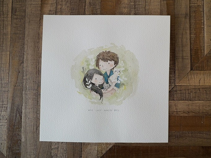 Image of Watercolour Custom portrait