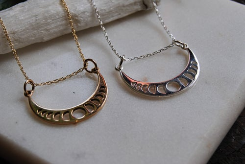 Image of Moon phases crescent necklace