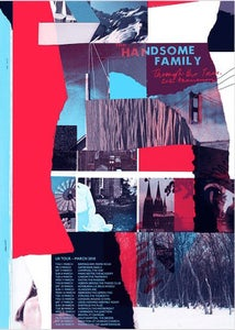 Image of Handsome Family - Through the Trees 2018 UK Tour Poster