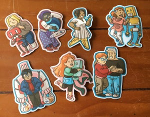 Image of O Human Star sticker set