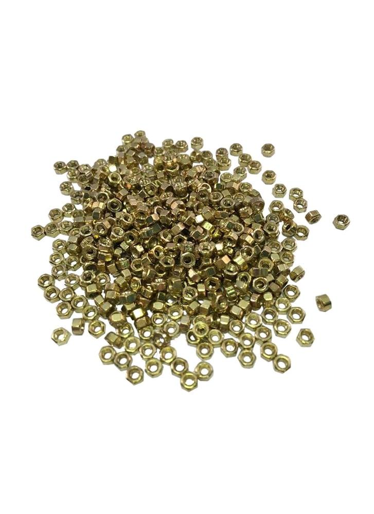 Image of Fingerboards UK Fingerboard Truck Kingpin & Axle Nuts Gold