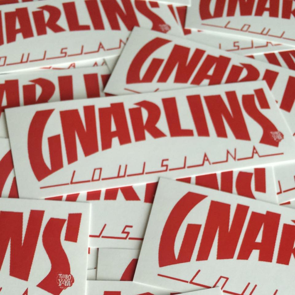 "Image of ""GNARLINS LOUISIANA"" (paper) Sticker by TimboYaYa!"