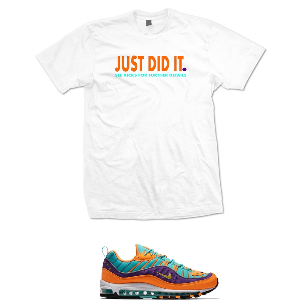 Image of Just Did It Air Max 98 Cone t shirt - White