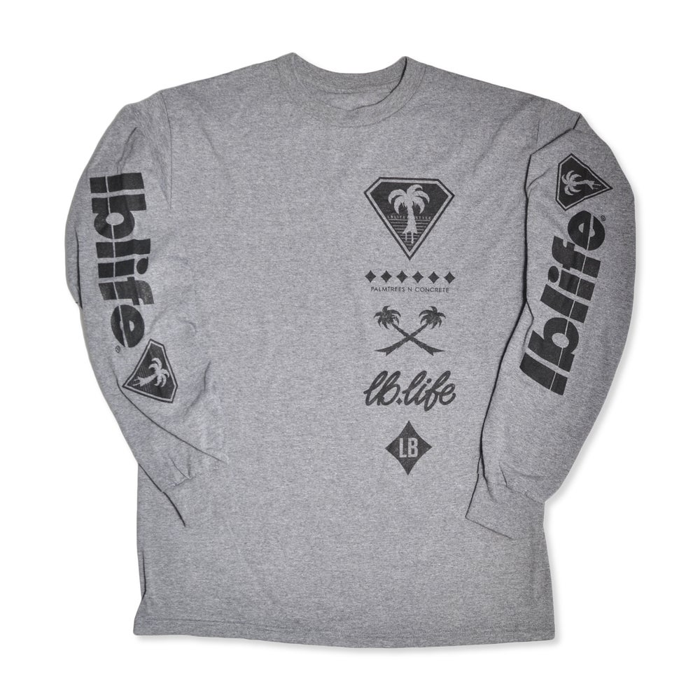 Image of BRANDED LBLIFE GRAPHITE GRAY LONG SLEEVE TEE