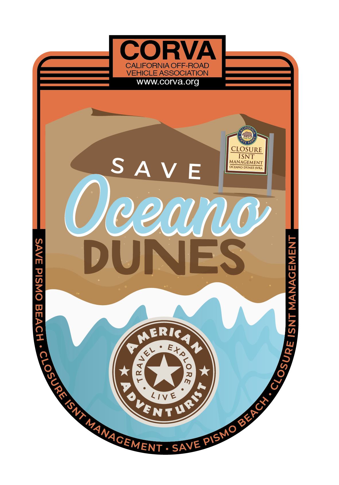 Image of SAVE Oceano Dunes Decal