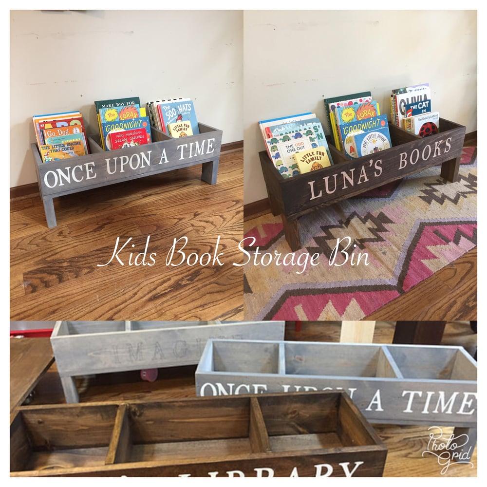 Image of Kids Book Storage Bin