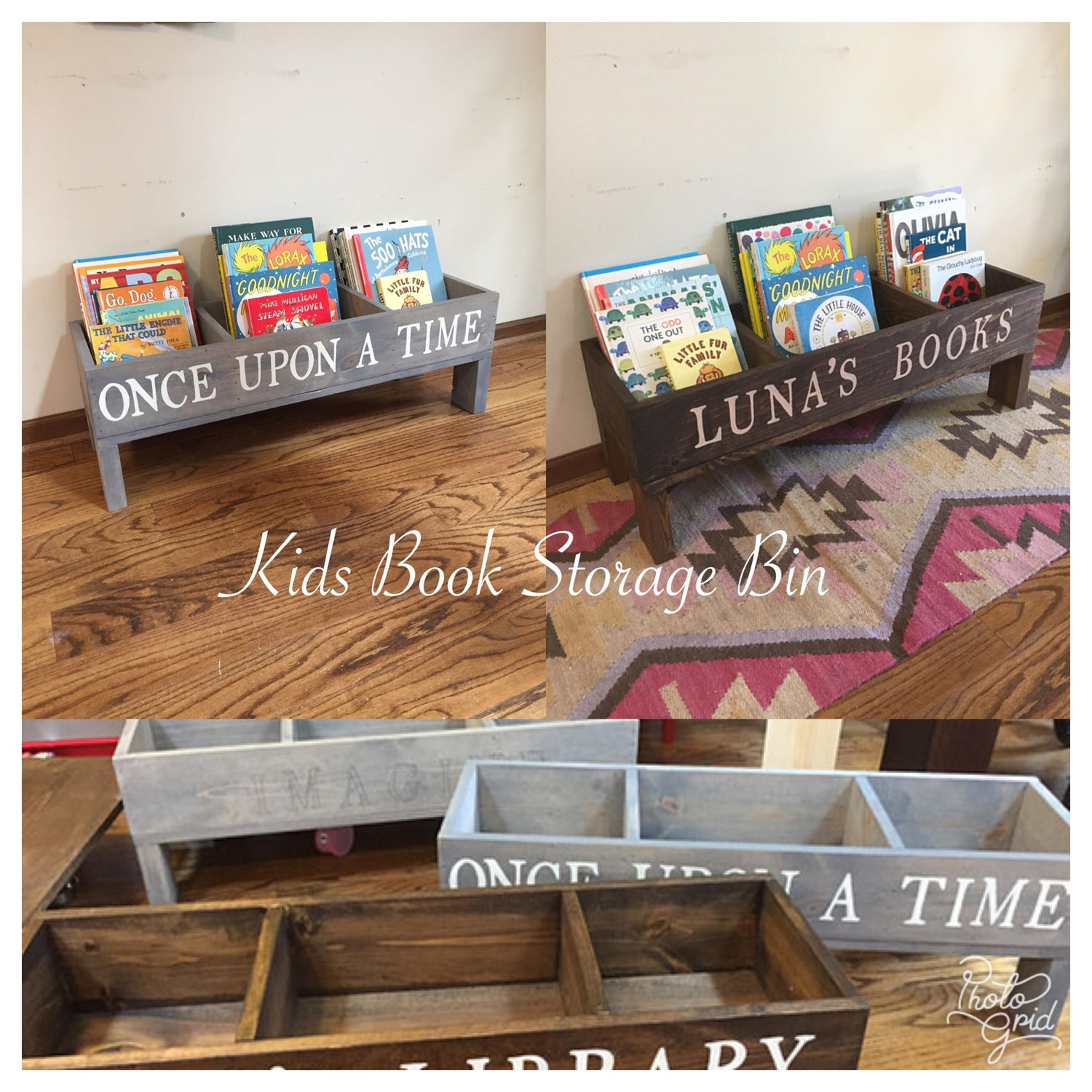 Image of Kids Book Storage Bin