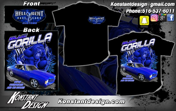 Image of Hell Bent Race Cars Blue Gorilla