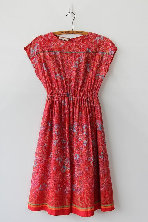 Image of SOLD Red Blooms Dress