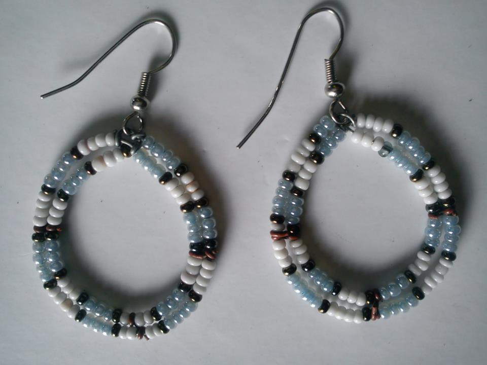 Image of Maasai antelope earrings(pair)