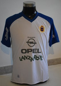 Image of U.D. Lanzarote Away Shirt Adult (white and blue)