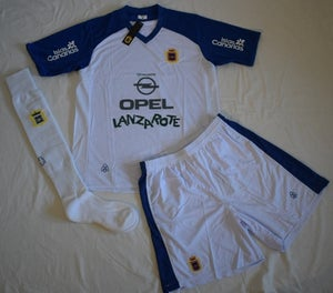 Image of UD Lanzarote Away Kit Complete Adult (White/Blue)