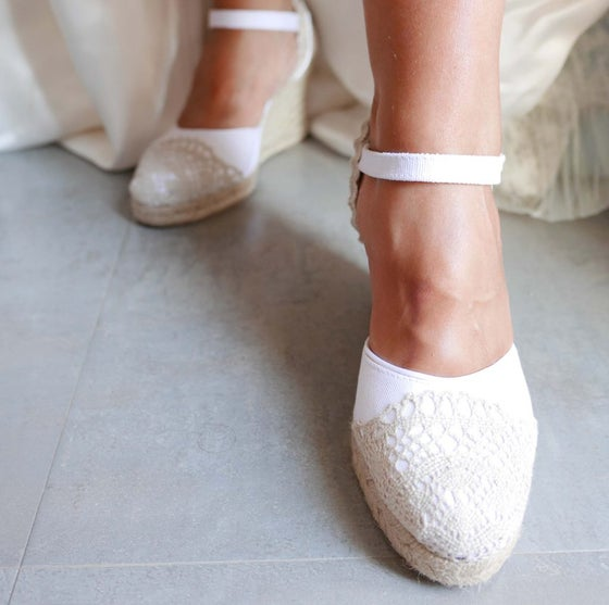 Image of Bridal Espadrilles1 - BE1 - EU sizes 35 to 41 - available in 9, 7, 5 and 3 cm height