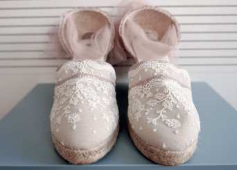 Image of Bridal Espadrilles2 - BE2 - EU sizes 35 to 41 - available in 9, 7, 5 and 3 cm height