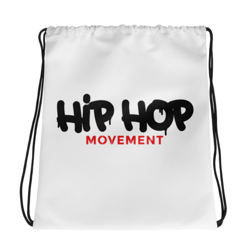 Image of Hip Hop Movement All-Over Drawstring Bag (15x17)