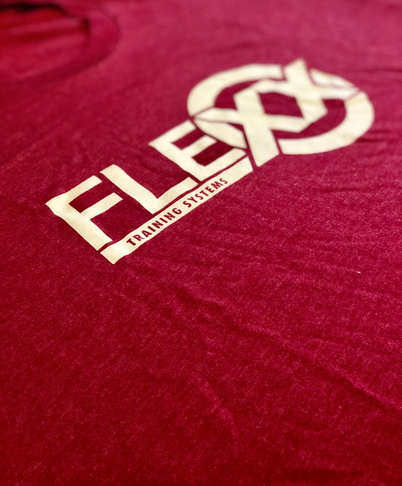 Image of Maroon/White Men's Flexx Tee