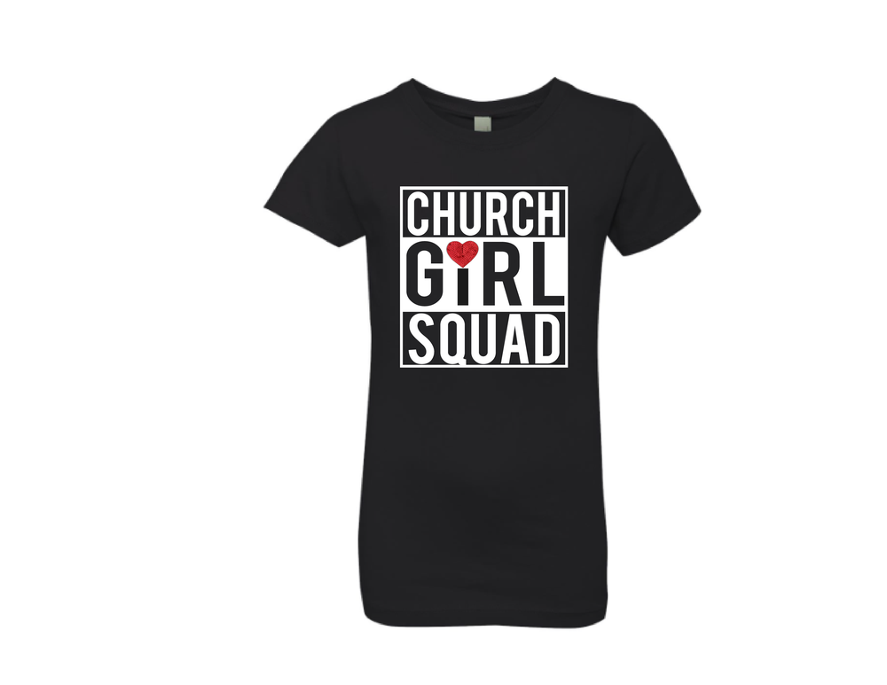 "Image of Little Girl ""CHURCH GIRL SQUAD"" Tee"