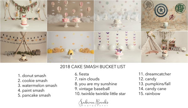 Image of 2018 Cake Smash Bucket List