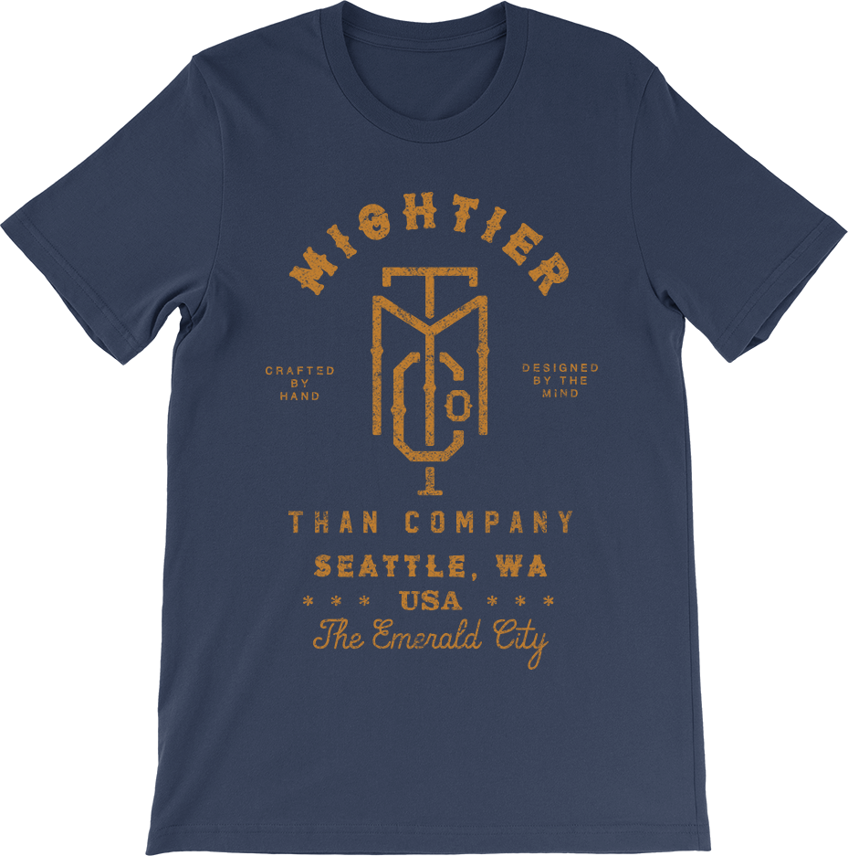 Mightier Than Seattle T Shirt Mightier Than Co