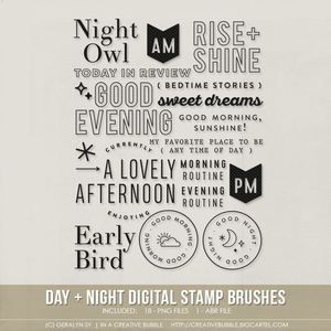 Image of Day + Night Stamp Brushes (Digital)